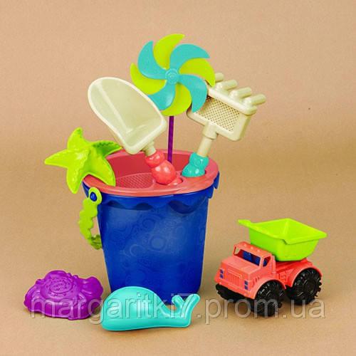 Набор для игры с песком и водой - ВЕДЕРЦЕ МОРЕ (9 предметов)