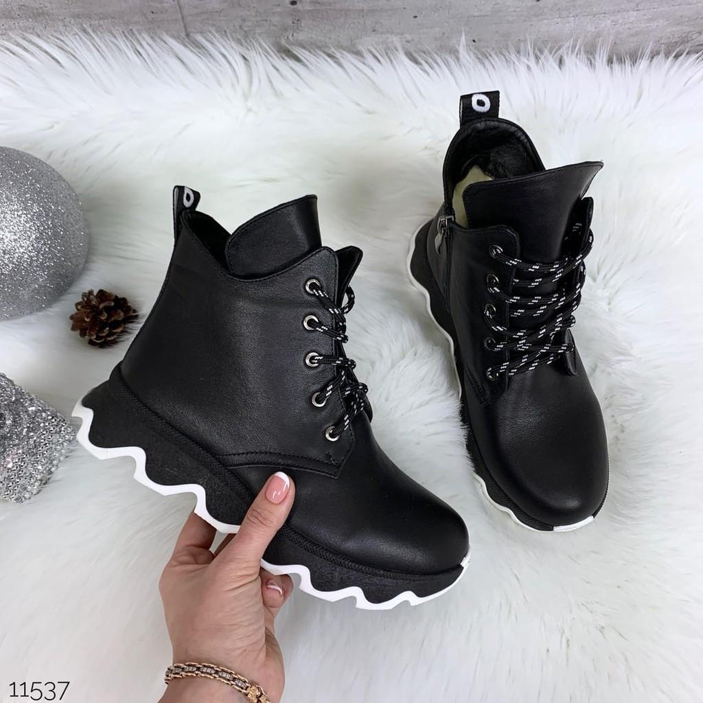 Зимние ботиночки =JHG=, цвет: BLACK