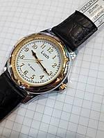 Мужские механические часы Луч 905 Беларусь белый циферблат диаметр 4 см арабская цифра