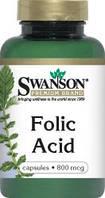 Foliс Acid / Фолиевая кислота, 800 мкг  250 капсул