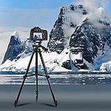 Штатив для фотоаппарата трипод 3120A Black + чехол, фото 4