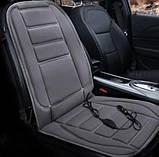 Накидка на сиденье авто с подогревом от прикуривателя, фото 3