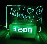 Настольные цифровые часы с доской для записей - Зеленые, фото 4