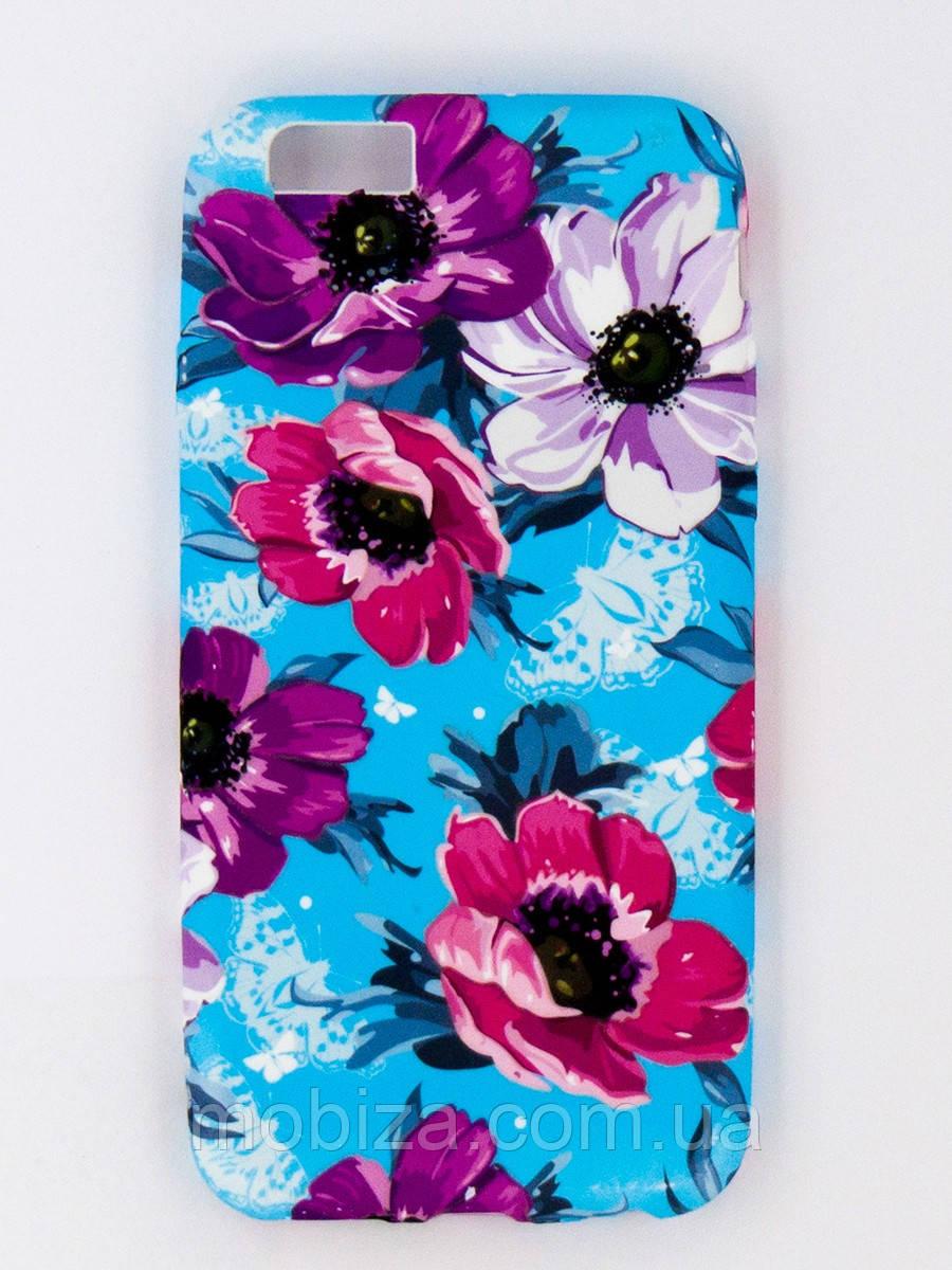 "Чохол - панель ""FINE LINE"" (накладка) силікон для iPhone 6/6s ""Flowers"""