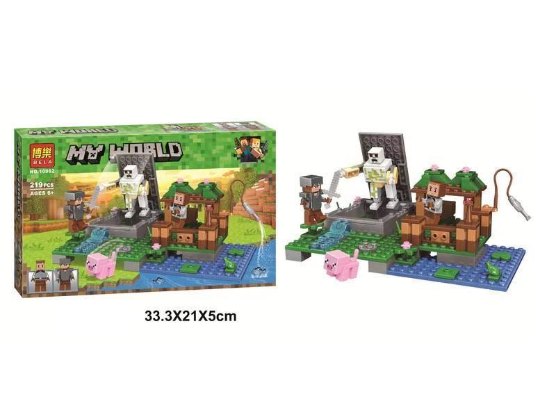 """Конструктор Bela 10962 """"Голем на ферме"""" Lego Майнкрафт, Minecraft, 219 деталей"""