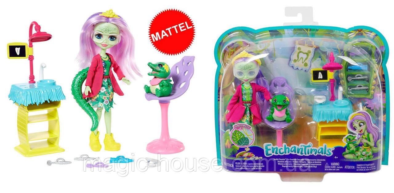 Enchantimals Игровой набор Энчантималс Стоматология Энди Крокодилли и Марши  Dentist & Andie Alligator Doll