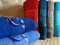 Комплект полотенец для бани DNZ Gulcan 6 100% cotton Dolphins махра 6шт 70х140 Турция