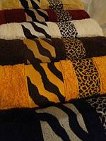 Комплект полотенец баня Cestepe Zebra 100% Vip cotton махра 6шт 70х140 Турция
