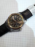 Мужские механические часы Беларусь модные Луч 905 черный циферблат диаметр 4 см арабская цифра