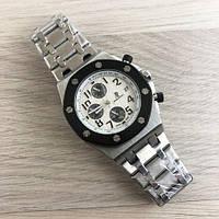 Часы мужские Audemars Piguet AA Silver-Black-White