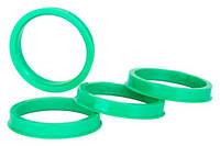 Центровочные кольца 71,6 x 57,1 (Vector HCR716-571) - Термостойкий поликарбонат 280°C, комплект (4 шт.)