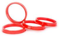Центровочные кольца 71,6 x 64,1 (Vector HCR716-641) - Термостойкий поликарбонат 280°C, комплект (4 шт.)