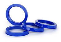 Центровочные кольца 72,6 x 60,1 (Vector HCR726-601) - Термостойкий поликарбонат 280°C, комплект (4 шт.)