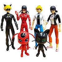 Игровой набор Miraculous из 6 шт Леди Баг и Супер Кот 15 см Ladybug and Cat (0000001)