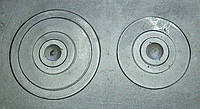 Плита двухконфорочная чугунная 410*710