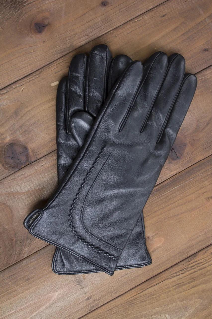 Перчатки кожаные женские сенсорные