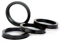 Центровочные кольца 76,1 x 58,6 (Vector HCR761-586) - Термостойкий поликарбонат 280°C, комплект (4 шт.)