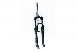 "Вилка 26"" 1-1/8"" шток-195мм AM preload v-brake ход-100mm (YS 728 50% matt) SUNTOUR SF16-XCT-HLO-DS (черн."