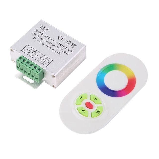 Контроллер RGB PROLUM (RF; 5K; сенсорный; 18A; ЧИП; Белый)