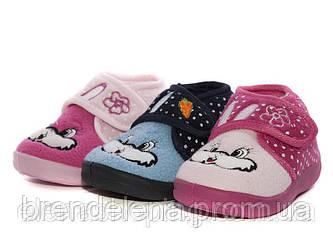Дитячі яскраві теплі тапочки-чуні для дівчинки р(24-13,5 см)
