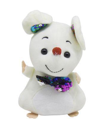 """Мягкая игрушка """"Мышка с галстуком"""" (белая) 026605 7Toys (TC114203)"""