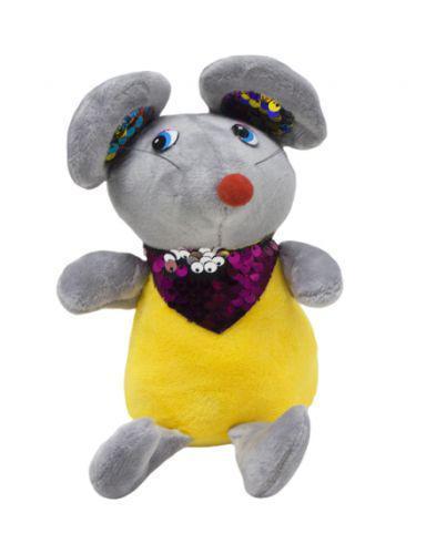 Мышка в блестящем шейном платке (серый) 026566 7Toys (TC114115)