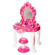 Трюмо для девочки 45-31-76см,стульчик,фен,аксессуары,10 предметов, фото 2