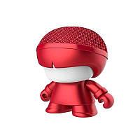 "Акуст. система XOOPAR серии ""Металлик"" - Mini XBOY (7,5 cm,красн.,Bluetooth,USB-каб,подсв., ремешк.)"
