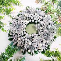 Вінок новорічний срібний, фото 1