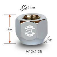 Гайки колісні M12x1,25x16; Цинк, Конус ключ 21 (відкриті), Кріплення коліс 700044 Zn - шт.