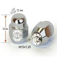 Гайки колесные M12x1,25x26; Хром, Конус, ключ 21 (закрытые), Крепеж колес 701144 Cr - шт.