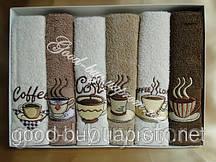 """Комплект кухонных полотенец Merzuka """"Cafe""""  махра - хлопок 6шт.: 30х50 Турция  pr-45"""