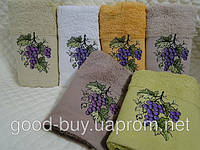 "Комплект полотенец Merzyka ""Tea towels"" - махра - хлопок 6шт.: 30х50 Турция  pr-46"