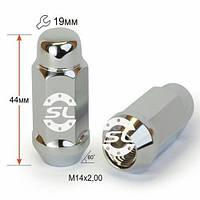 Гайки колесные M14x2x44; Хром, Конус, ключ 21 (закрытые), Крепеж колес 801937 Cr - шт.