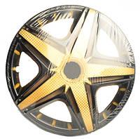 Колпаки на колеса R13 черные + золото, Star NHL Super Black Gold (5278) - комплект (4 шт.)