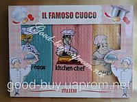 "Комплект полотенец IL famoso cuoco ""Italiano""  хлопок  кухня 3шт: 50х70 Tурция"