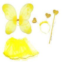 """Карнавальный костюм """"Блестящая бабочка"""" (жёлтый) 6098-1_T042 MIC (TC116706)"""