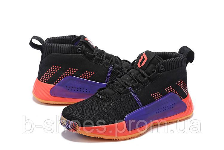 Мужские Баскетбольные кроссовки  Adidas Dame 5  ( Damian Lillard) (Black)