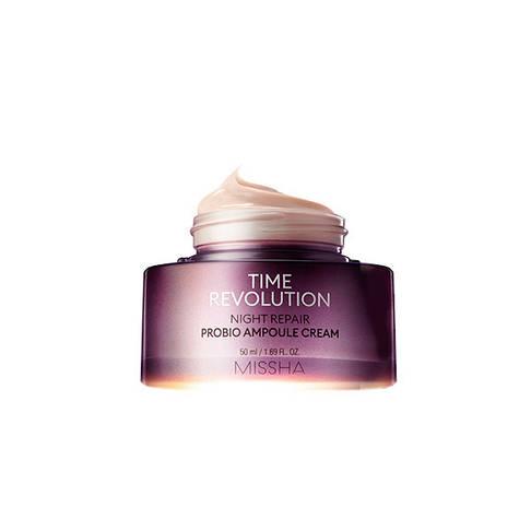 Ночной омолаживающий ампульный крем Missha Time Revolution Night Repair Probio Ampoule Cream, 50ml, фото 2
