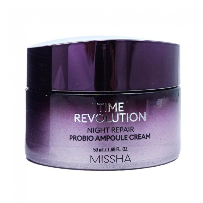 Ночной омолаживающий ампульный крем Missha Time Revolution Night Repair Probio Ampoule Cream, 50ml