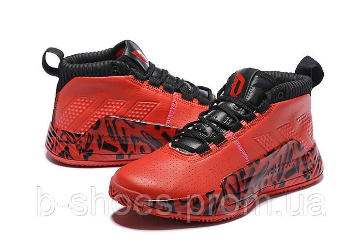 Мужские Баскетбольные кроссовки  Adidas Dame 5  ( Damian Lillard) (Red/black)