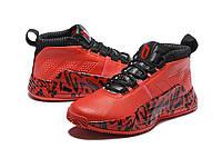 Мужские Баскетбольные кроссовки  Adidas Dame 5  ( Damian Lillard) (Red/black), фото 1
