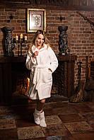 Махровый халат с носочками в комплекте