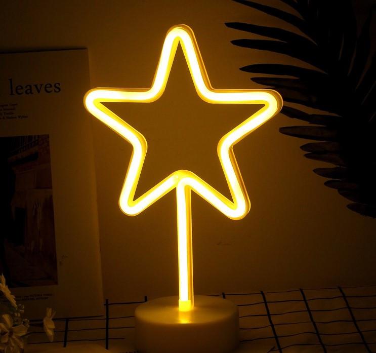 Освещение для детской комнаты LED Интерьерный неоновый ночник Звезда