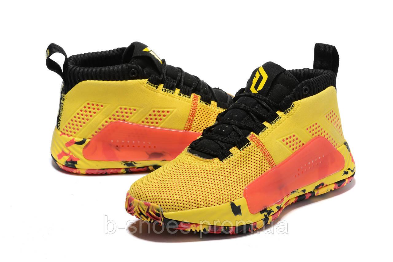 Мужские Баскетбольные кроссовки  Adidas Dame 5  ( Damian Lillard) (Yellow)