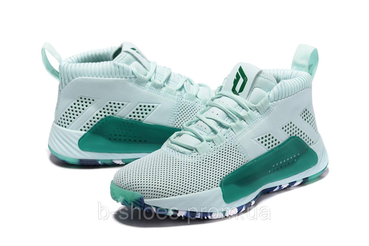 Мужские Баскетбольные кроссовки  Adidas Dame 5  ( Damian Lillard) (Green)