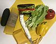 Многоразовая обертка салфетка для продуктов с пчелиным воском, багаторазова серветка обгортка, фото 5