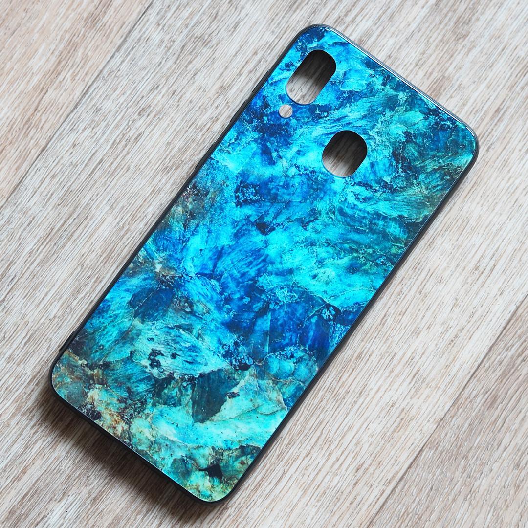 TPU чехол Malachite для Samsung Galaxy A30 (SM-A305) (сине-зеленый)
