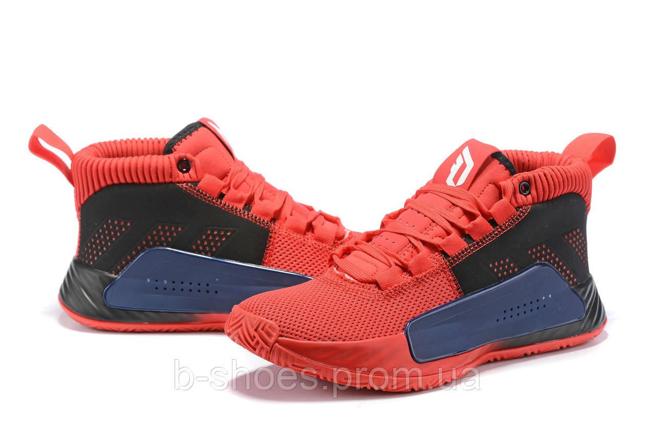 Мужские Баскетбольные кроссовки  Adidas Dame 5  ( Damian Lillard) (Red)