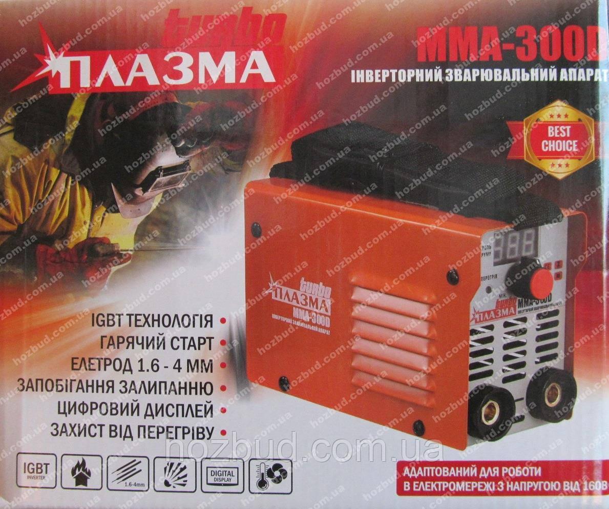 Зварювальний апарат Плазма ММА-300D (дисплей)